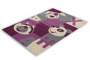 NAZAR - tapis amigo 133x190 violet - Tapis Enfant
