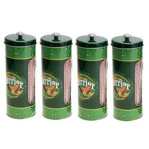WHITE LABEL - 4 boîtes avec 50 pailles collection perrier glamou - Paille