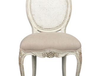BLANC D'IVOIRE - betty - Chaise M�daillon