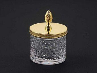 Cristal Et Bronze - cristal taille d - Pot À Coton