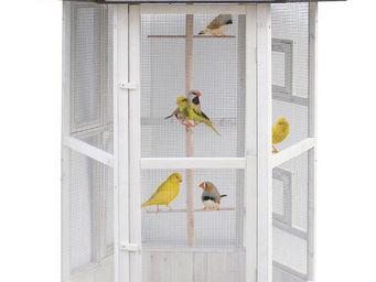 ZOLUX - voli�re hexagonale en bois 124x124x184cm - Cage � Oiseaux