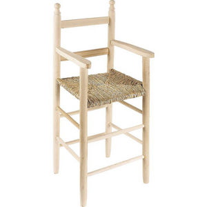 Aubry-Gaspard - chaise haute pour enfant en hêtre - Chaise Haute Enfant