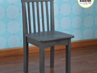 KidKraft - chaise grise en bois pour enfant 34x32x68cm - Chaise Enfant