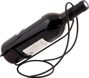 Aubry-Gaspard - porte bouteille de table noir en métal 26x12x20cm - Présentoir À Vin