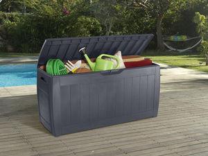 Chalet & Jardin - coffre de jardin mexico 270 litres en résine aspec - Coffre De Jardin