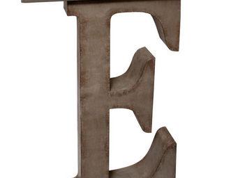 Antic Line Creations - console métal design lettre e - Console