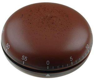 La Chaise Longue - minuteur de cuisine macaron chocolat 6,5x3cm - Minuteur