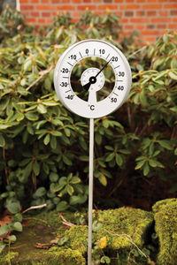 WORLD OF WEATHER - thermomètre de jardin sur pic avec aiguille 24x3,5 - Thermomètre