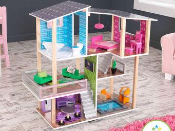 KidKraft - maison de poup�es contemporaine 60x40x69cm - Maison De Poup�e