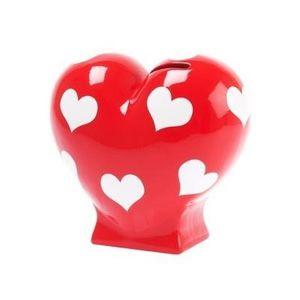 Present Time - tirelire coeur rouge - Tirelire