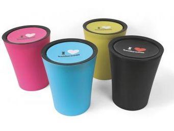 Cm - poubelle i love bathroom - couleur - vert - Poubelle De Salle De Bains