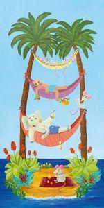 FRANÇOISE LEBLOND - toile sur châssis les hamacs de françoise leblond - Tableau Décoratif Enfant