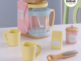 KidKraft - service petit d�jeuner avec cafeti�re en bois past - Jouets De Poup�e