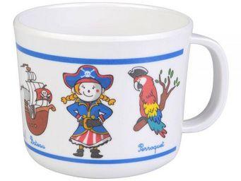 La Chaise Longue - tasse mélaminé pirates - Assiette Bébé