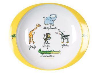 La Chaise Longue - assiette mélamine jungle - Assiette Bébé