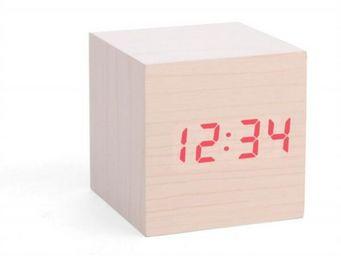 KIKKERLAND. - horloge r�veil bois clair - Horloge � Poser