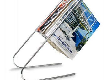 J-Me - porte magazines flottant chrome - Porte Revues