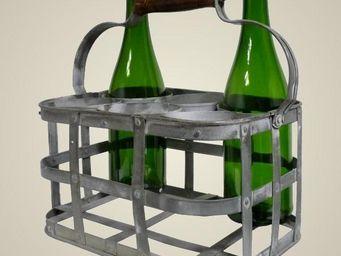 L'HERITIER DU TEMPS - porte bouteilles en fer 6 cases - Porte Bouteilles