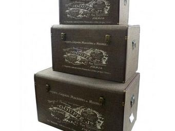 L'HERITIER DU TEMPS - set 3 malles 3 tailles rangement - Malle