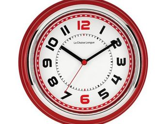La Chaise Longue - horloge boston rouge - Pendule Murale