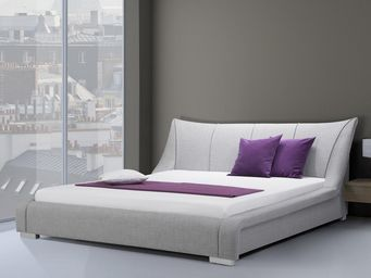 BELIANI - lit à eau nantes gris 160x200 cm - Lit À Eau