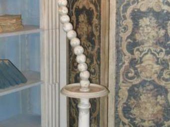 PROVENCE ET FILS - lampadaire houdini articul� avec boules bois et ab - Lampadaire