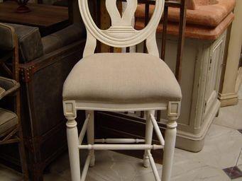 PROVENCE ET FILS - chaise haute cotton plan h90 palmette- assise reco - Chaise Haute De Bar