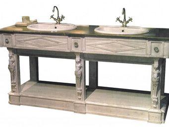 PROVENCE ET FILS - element bas seul de salle de bains thermes / vasqu - Meuble Double Vasque