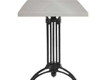 Ardamez - table de repas émaillée gris / fonte - Table De Repas Carrée