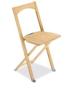 Calligaris - chaise pliante olivia en h�tre naturel de calligar - Chaise Pliante