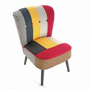 WHITE LABEL - solid fauteuil patchwork - Fauteuil Bas