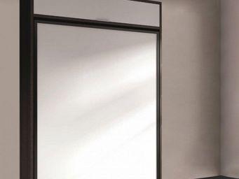 WHITE LABEL - armoire lit escamotable eros, ch�ne noir et blanc. - Lit Escamotable