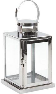 Aubry-Gaspard - lanterne de jardin métal brossé - Lanterne D'extérieur