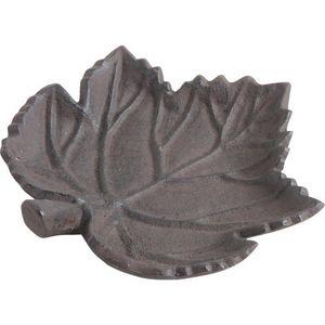 AUBRY GASPARD - mangeoire oiseau feuille en fonte - Mangeoire À Oiseaux