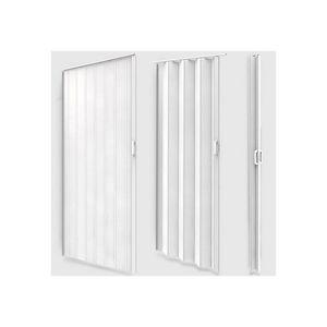 WHITE LABEL - porte accordéon pliante extensible pvc - Porte Pliante
