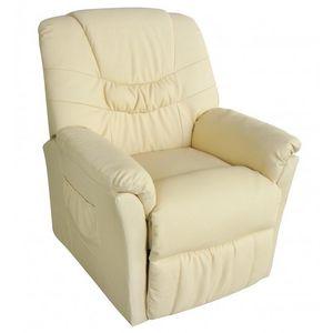 WHITE LABEL - fauteuil de massage beige - Fauteuil De Massage