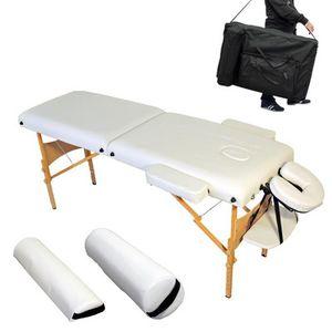 WHITE LABEL - table de massage 7,5 cm �paisseur blanc - Table De Massage
