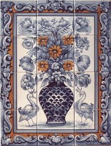 Azulejos Terra Viva Portugal - bouquet2 - Panneau Céramique