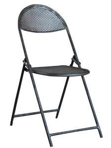 Mathi Design - chaise pliante cinema acier - Chaise Pliante