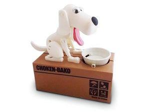 WHITE LABEL - tirelire originale en forme de chien mangeur de pi - Tirelire