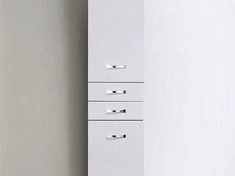 UsiRama.com - colonne de salle de bain design 1,6m blanc - Colonne De Rangement Simple De Salle De Bains