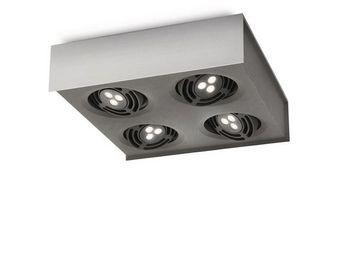 ARCITONE BY PHILIPS - plafonnier 4 spots led aluminium 579864816 - Spot Encastr� Orientable