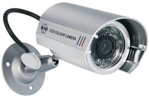 ELRO - videosurveillance - caméra factice en métal cs22d  - Camera De Surveillance