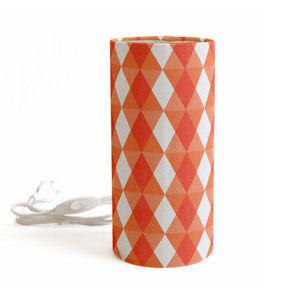 MADEMOISELLE DIMANCHE - kaleidoscope - lampe à poser tube tissu motifs ora - Lampe À Poser