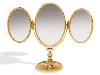 Cristal Et Bronze -  - Miroir À Poser