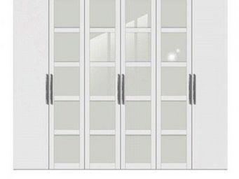 WHITE LABEL - dressing penderie london six portes � battant blan - Armoire Dressing