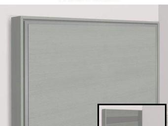 WHITE LABEL - armoire lit escamotable athena, chêne gris. matela - Armoire Lit