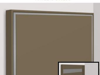 WHITE LABEL - armoire lit escamotable athena, taupe mat. matelas - Armoire Lit