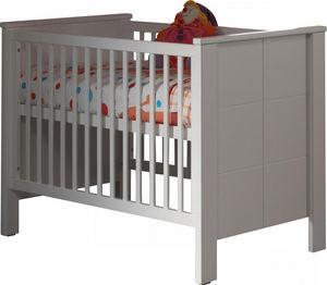 WHITE LABEL - lit bébé 60x120 cm coloris blanc - Lit Pliant Bébé