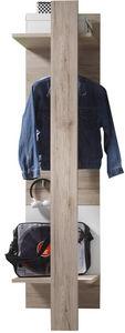 COMFORIUM - porte manteau avec penderie coloris chêne san remo - Vestiaire